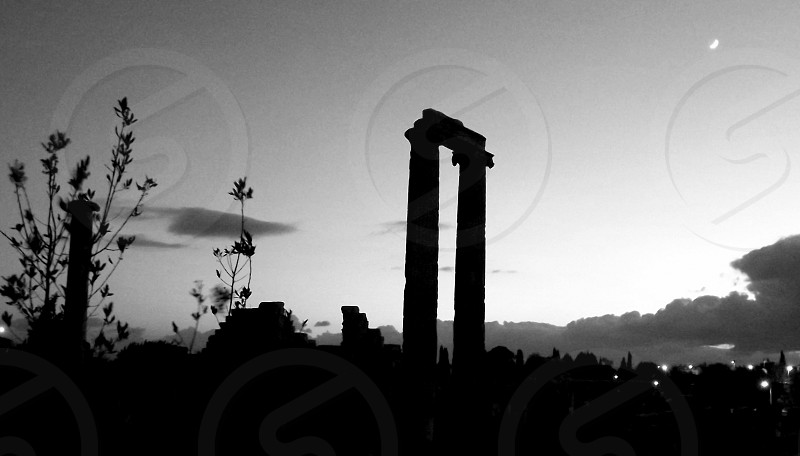 At night Apollo Temple Didim Aegean Coast Turkey. photo