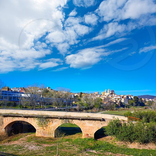 Ribarroja del Turia village and bridge in Valencia Spain photo