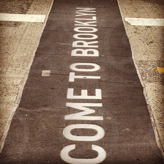 welcome to brooklyn printed carpet photo