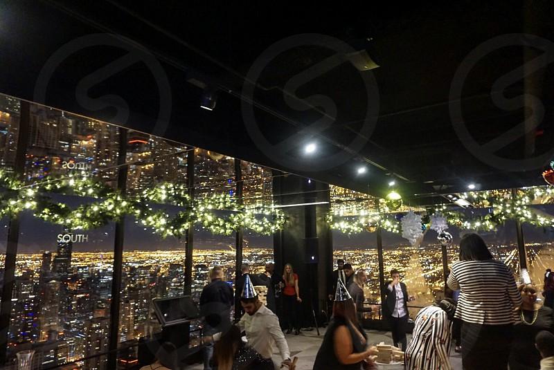New Year's Eve; Chicago; John Hancock building; 94th floor; city views; New Years 2018  photo