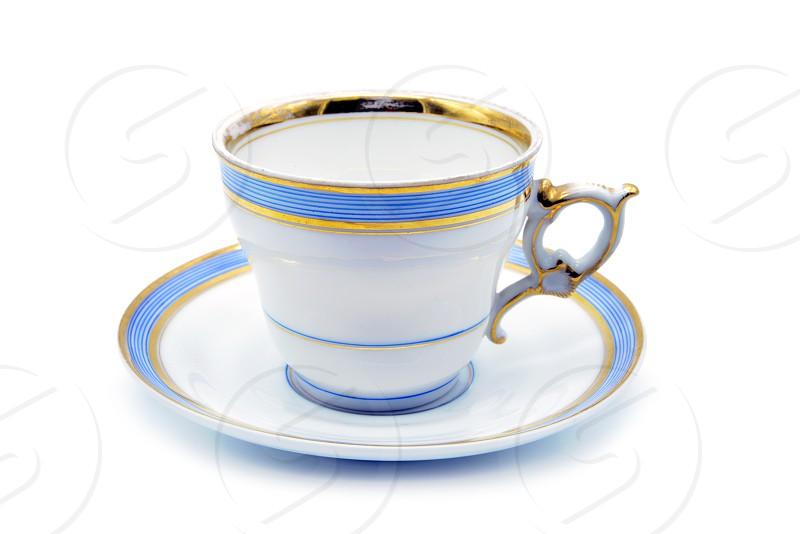 Antique Biedermeier Porcelain coffee cup. photo
