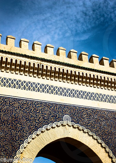 The Blue Gate of the Old City in Fez Morocco   photo
