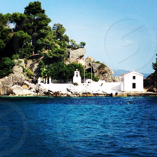 Greece island Parga chapel greek photo