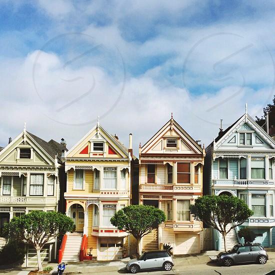 Painted ladies San Francisco architecture San Francisco architecture neighborhood historic home exterior  photo