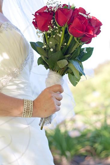 Bouquet wedding bride bracelet sun love  photo