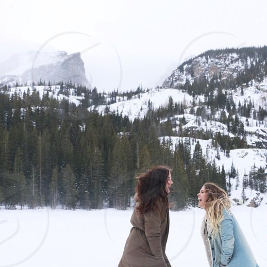 Mountains winter RMNP Colorado joy hiking photo
