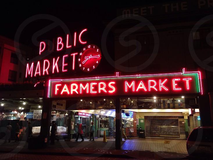 public market signage photo