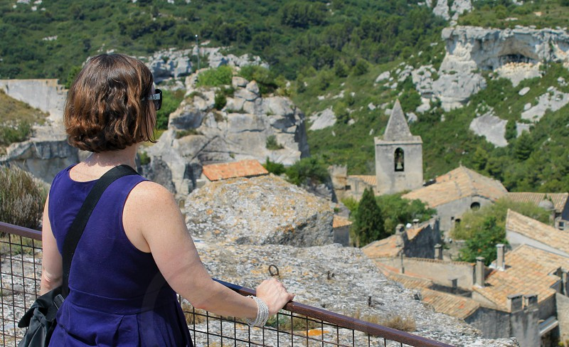 Standing on the fort over looking Les Baux De Provence. photo