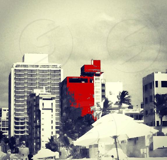 beachview sanjuan puertorico abandonedbuilding cloudyday beauty paintcityred photo