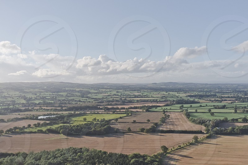 Landscape Shropshire fields countryside photo