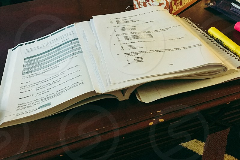 Study time. Fundamentals of accounting volume one? Taac2! School. Emotional reason? photo