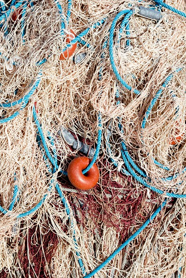 fishing net tackle textures from Mediterranean boats photo