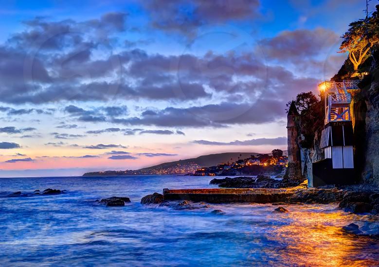 Laguna Dreamscape. I whimsical sunset drapes over the shores of Southern California. photo