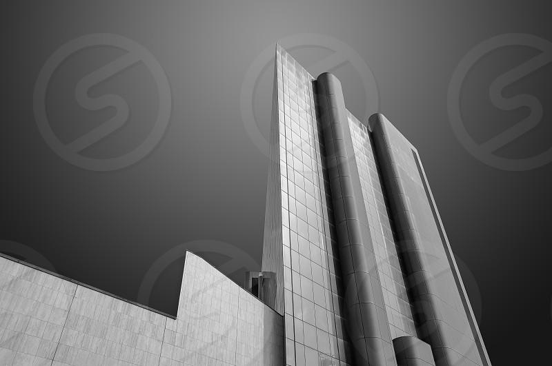 Skyscraper in black and white - Genova - Italy photo