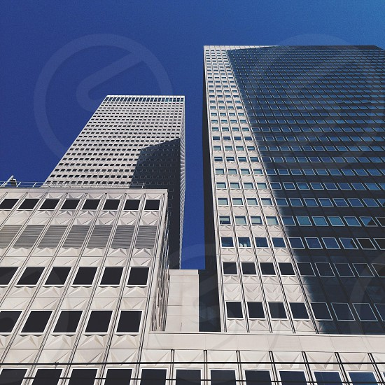 Buildings with a gap photo