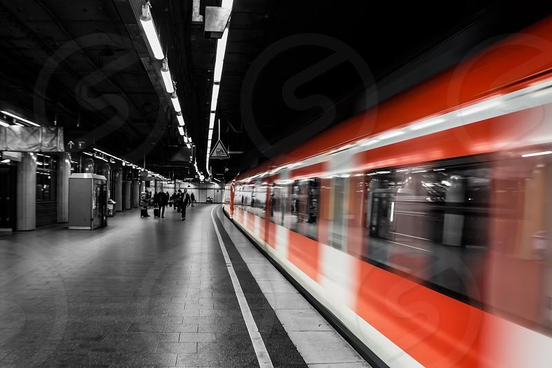 Black and White and Red - Stephansplatz subway Vienna Austria. photo
