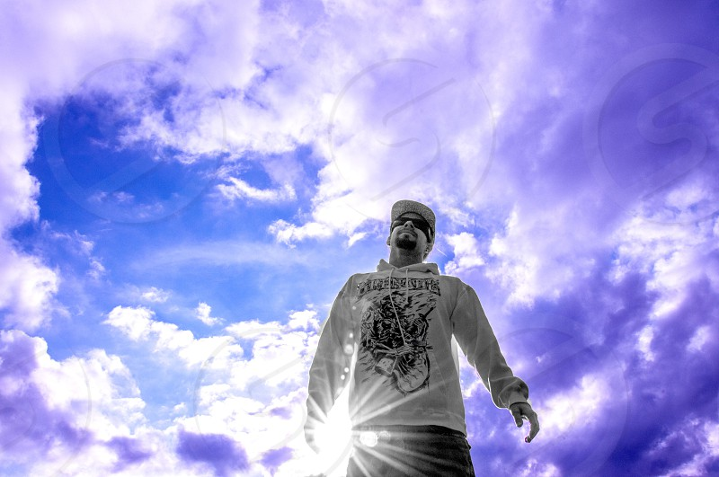 man in the clouds with a pocket full of sunshine :D  photo