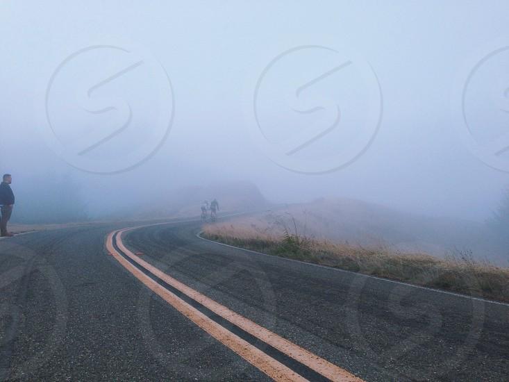 Foggy roadway photo