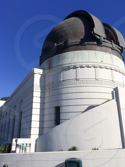 Peoplewitharchitecture. Griffith observatory dome white Los Angeles photo