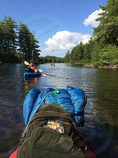 Yaking in the adks photo