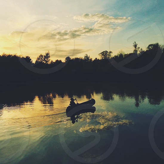black canoe  photo