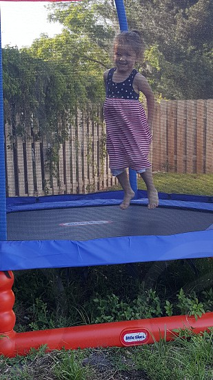 trampoline jumping photo