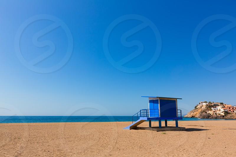 Bolnuevo beach in Mazarron Murcia at Mediterranean spain sea photo