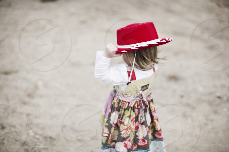 child cowgirl hat red  photo