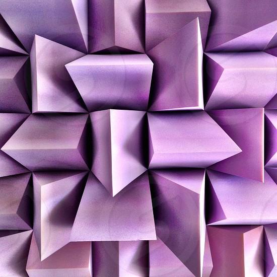 Purple geometric sculpture  photo