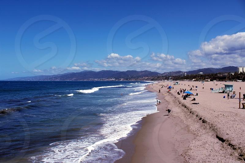 Beach at Santa Monica CA photo