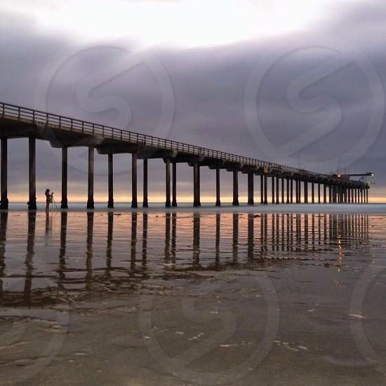 concrete sea dock photo