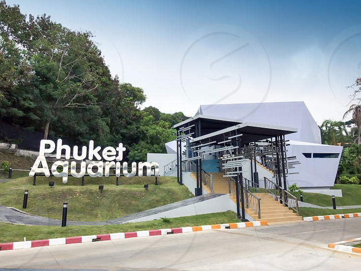 Main entrance to Phuket Aquarium in Phuket Thailand photo