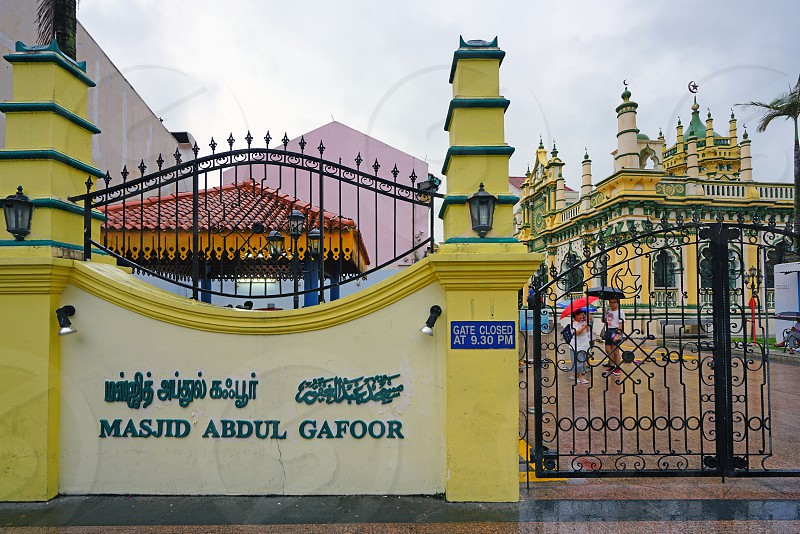 Masjid Abdul Gafoor mosque in Singapore photo