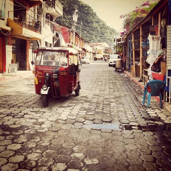 Cobble stone streets of Guatemala  photo