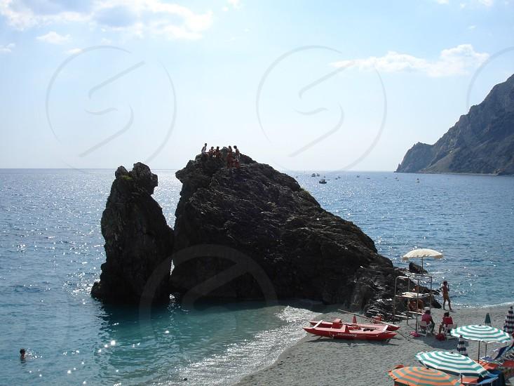 Beach coastline Italy cinque Terre vacation heaven leisure relax photo