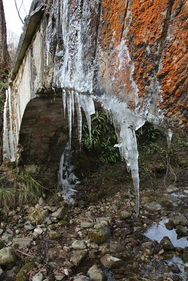 ice cold frozen bridge photo