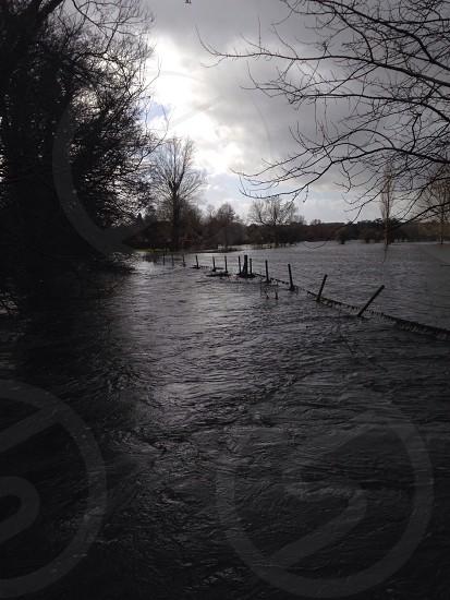 River Avon bursting it's banks in late 2013 photo