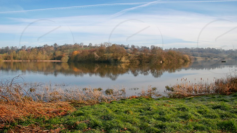 Autumnal View of Weir Wood Reservoir in East Grinstead photo