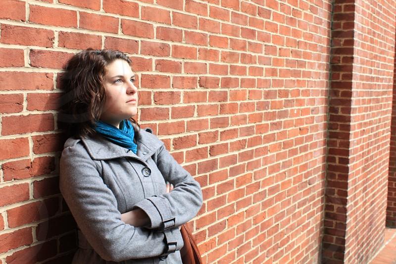 Woman cold model photo