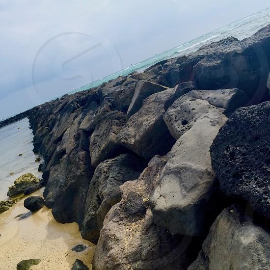 Honolulu. Volcanic Rock Pier photo