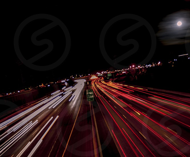 The moon and cars photo