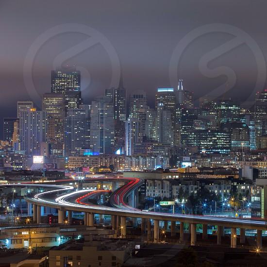 Shot from Potrero Hill overlooking the city of San Francisco Ca photo
