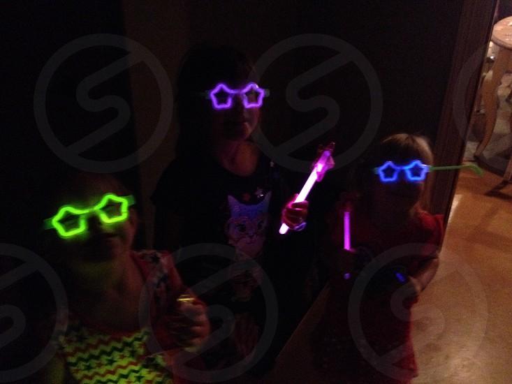 children's green led star glasses photo