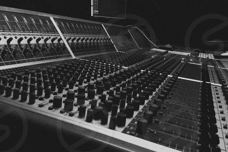 Audient Mixing Desk. Recording Studio. Music. photo