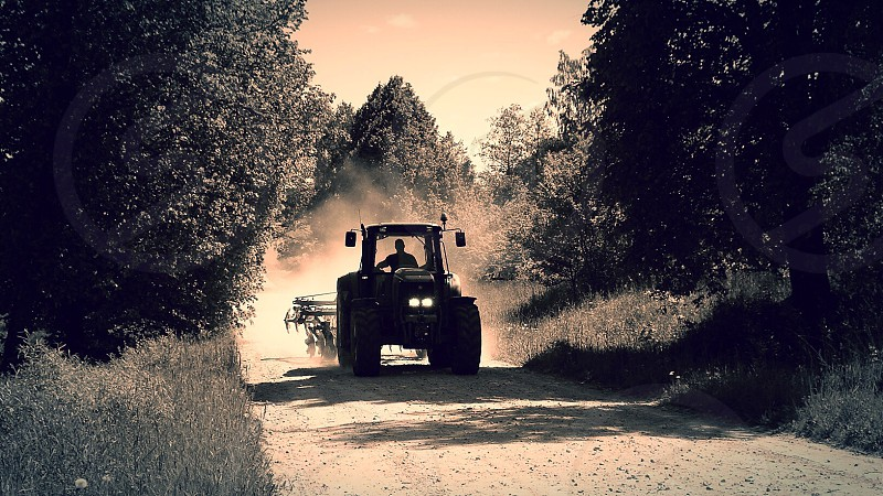Farmer driving photo