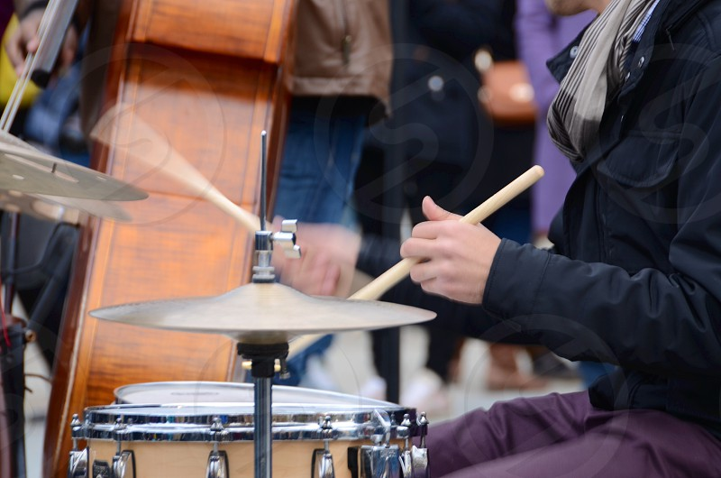 brass cymbals  photo
