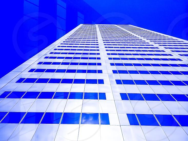 Blue sky skyscraper tower building urban reflection architecture  photo
