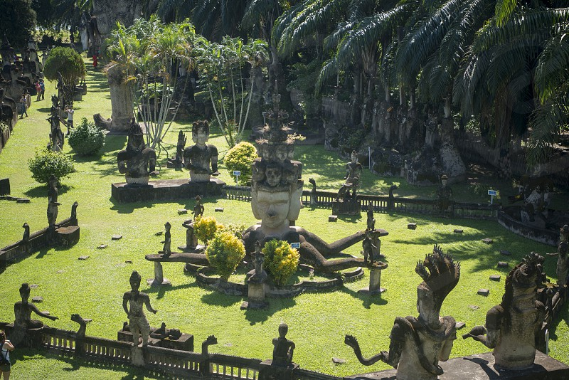 the Xieng Khuan Buddha Park near the city of vientiane in Laos in the southeastasia. photo