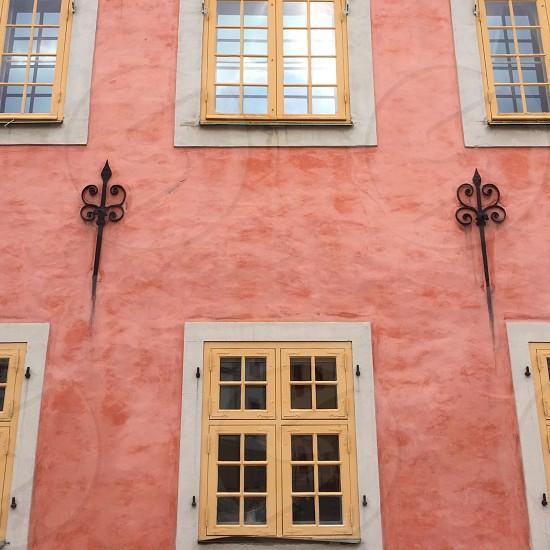 Wall pink window photo