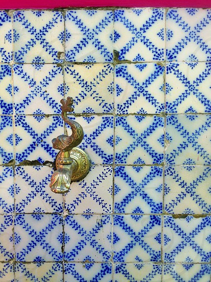 Water? Yes please! Portugese tiles in Olinda Brazil. Patterns. photo